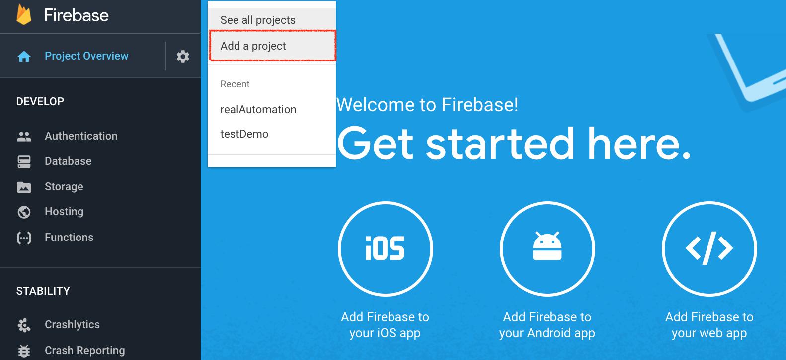 google-firebase-addProject-page