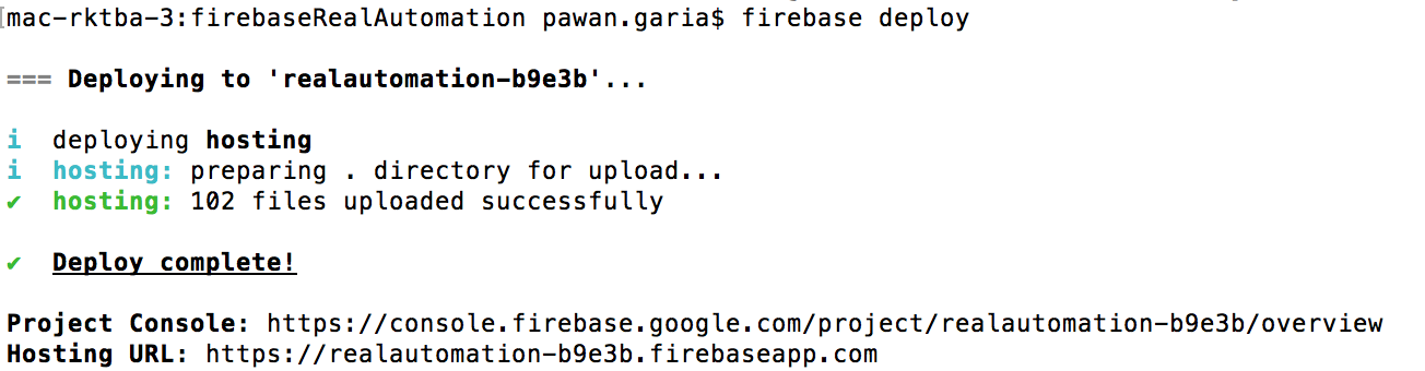 google-fireBase-deploy-command