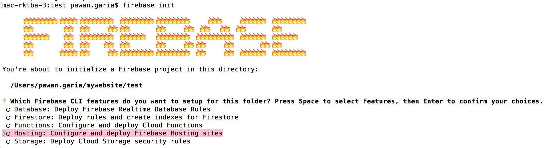google-fireBase-init-website-command