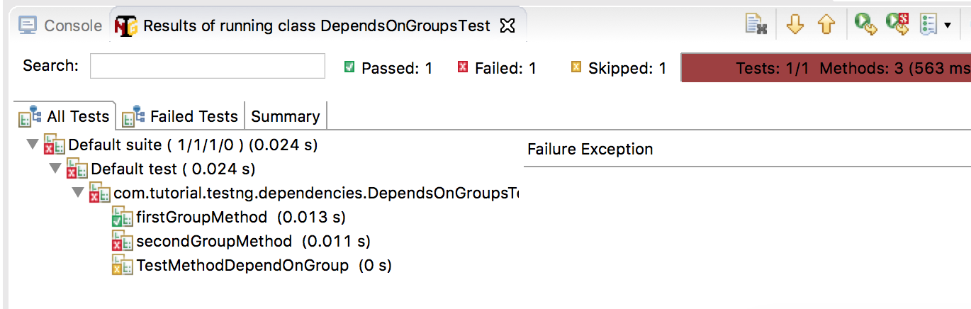 dependsOnGroup-failed-test-result