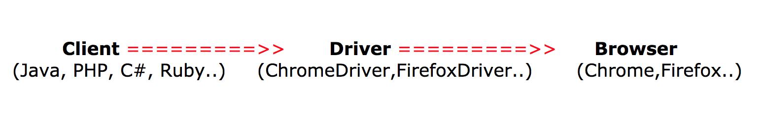 Client server WebDriver