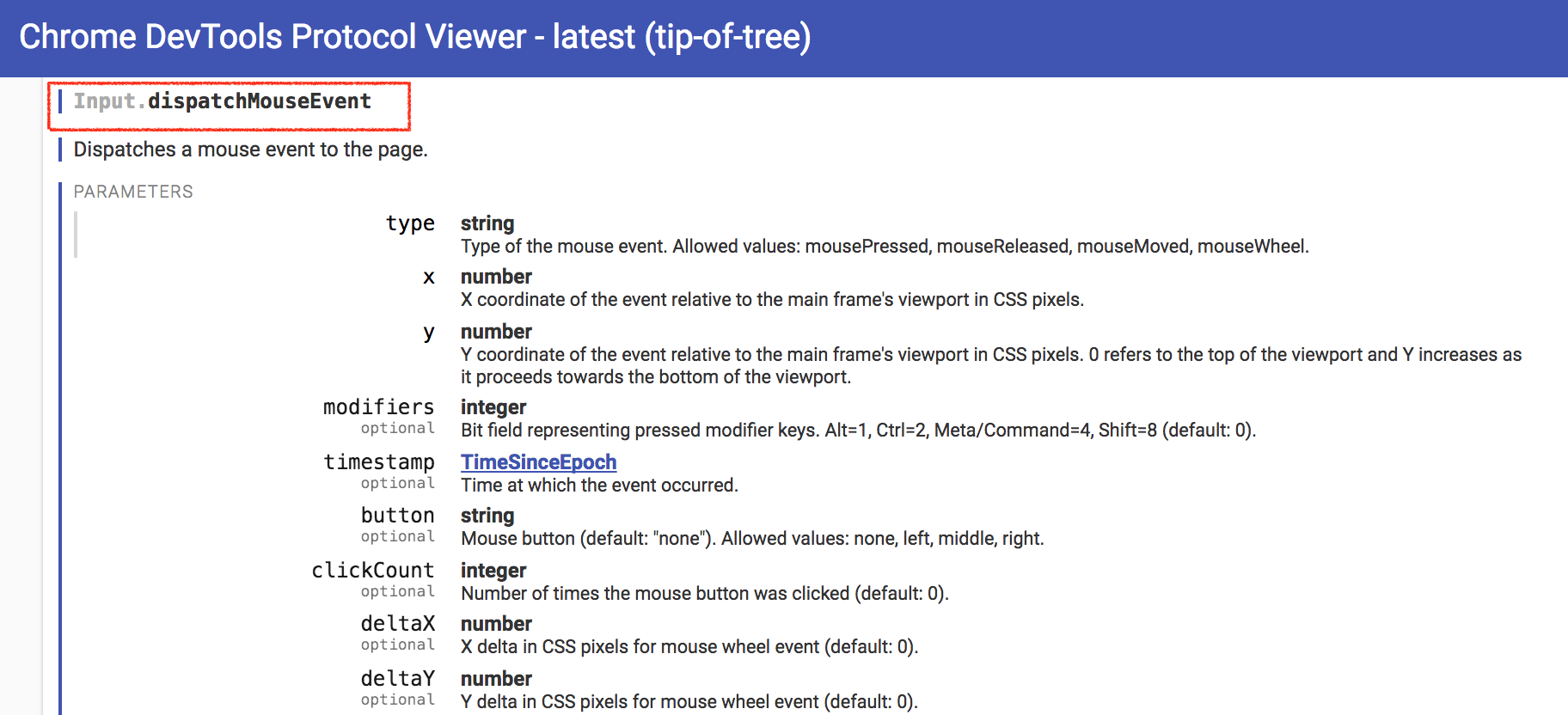 chromeDevTool-mouse-click-command
