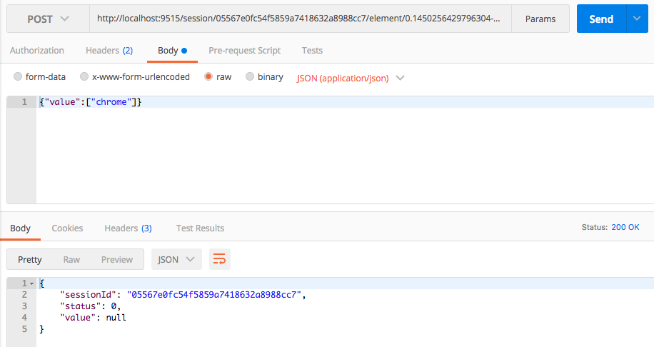 enter-text-in-chrome-request-postman